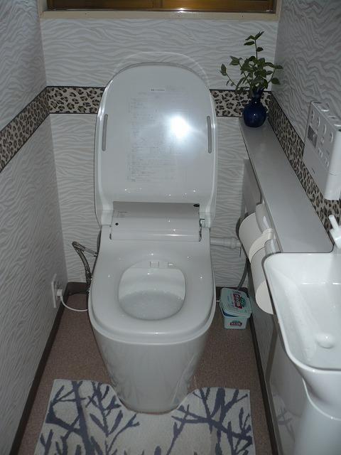 ⑤トイレもリフォームしました。