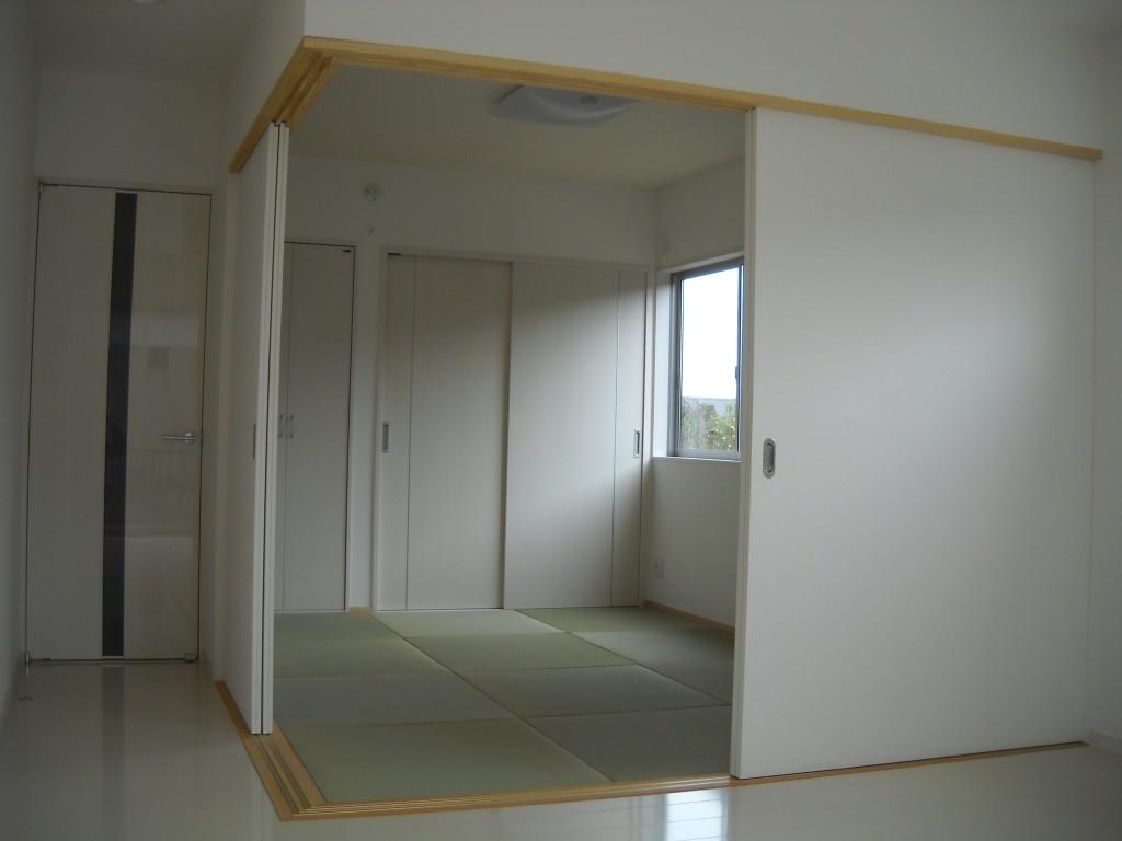 完成 和室 琉球畳を使用しました。