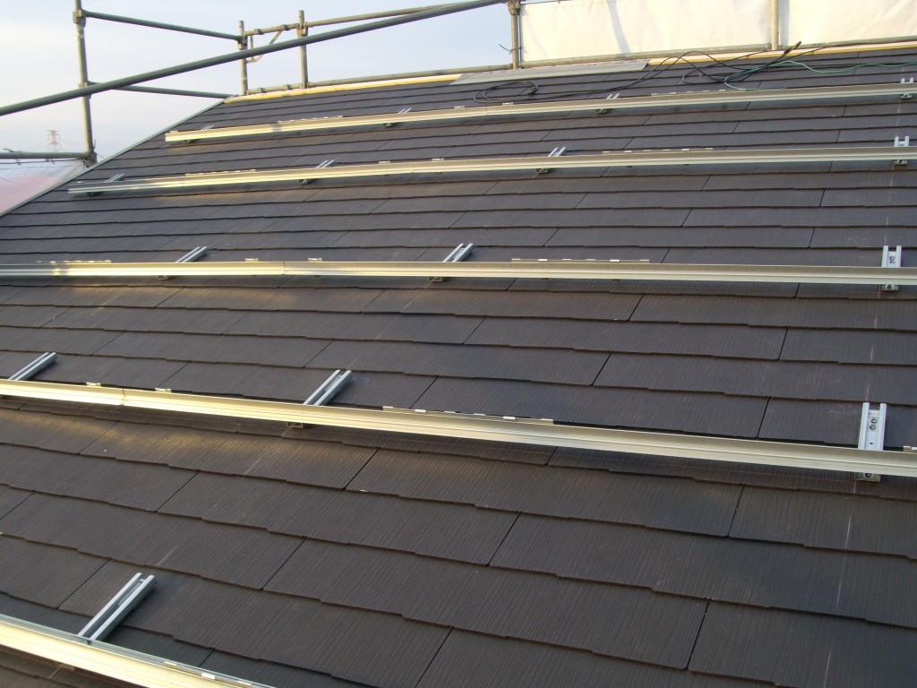 ①一般住宅への太陽光設置の架台作り