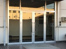 青崎工場正面玄関完了