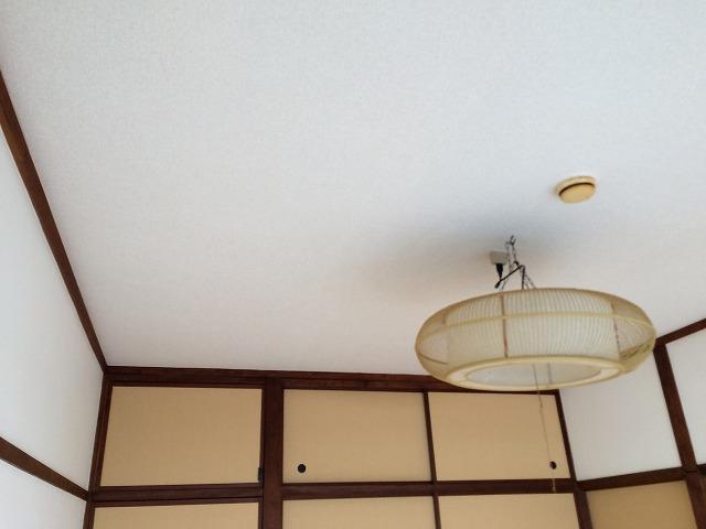 天井クロス貼り後