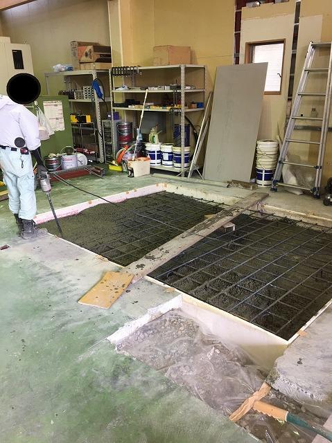 4内部機械基礎掘削、土間打ち (3)