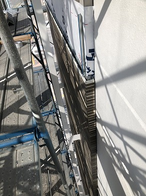 2-1外壁施工中