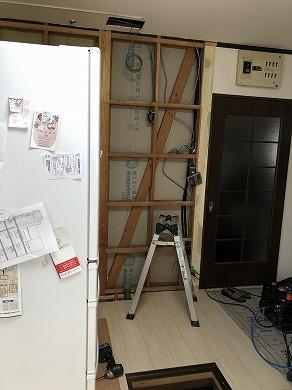 床増し張り施工中 (1)