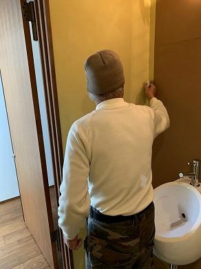 トイレ珪藻土塗り