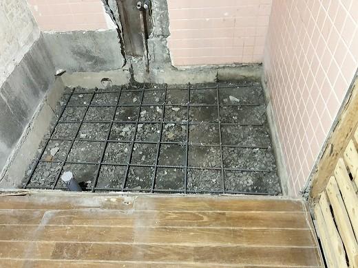 浴室土間打ち前